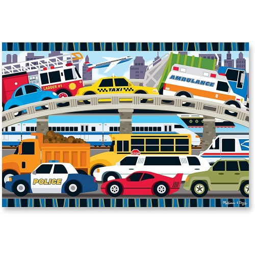 Melissa Doug Traffic Jam Floor Puzzle 24 Pcs 2 x 3 Feet
