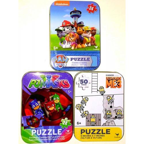 Bundle Set Of 3 Kids Mini Jigsaw Puzzles Pj Masks Superheroes Catboy Gekko Owlette Nickelodeon Paw