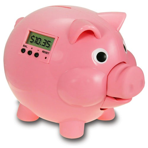 Electronic Piggy Bank with LCD – Pink Pig E Bank