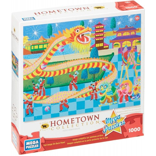 Mega Puzzles Hometown Collection 1000 Piece Dragon Dance