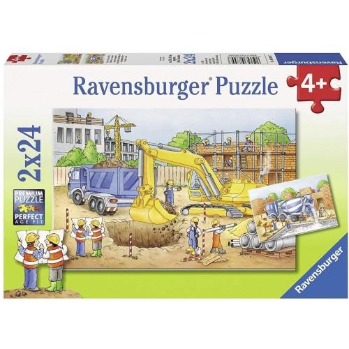 Ravensburger Construction Site Jigsaw Puzzle 2 x 24