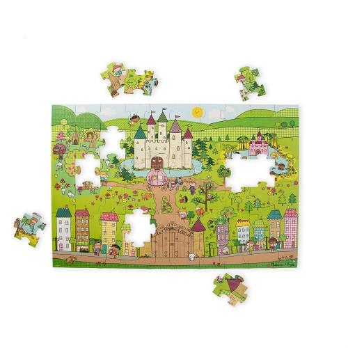 Melissa Doug Natural Play Giant Floor Puzzle Princess Fairyland 60 Pieces