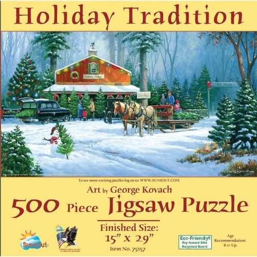 Sunsout Inc Holiday Tradition 500 Pc Jigsaw