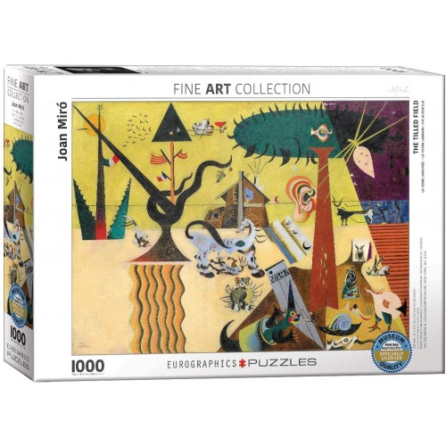 Eurographics The Tilled Field By Joan Miro 1000 Piece