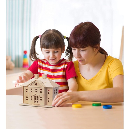 Woodcraft Construction Kit 3D Puzzlecountry