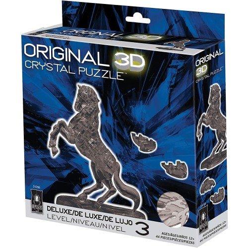 Bepuzzled Original 3D Crystal Puzzle Deluxe Stallion Black