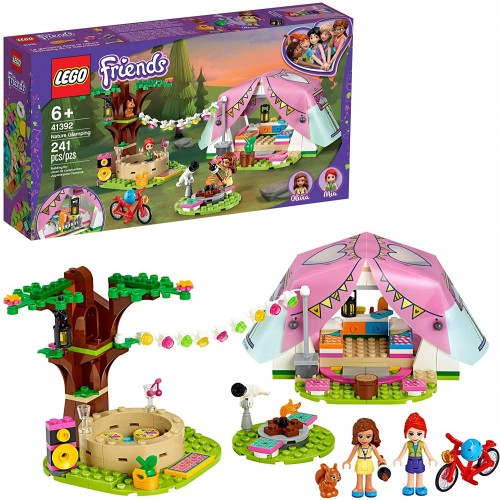 Lego Friends Nature Glamping 41392 Building Kit Includes Mia A Minidoll Tent And Toy