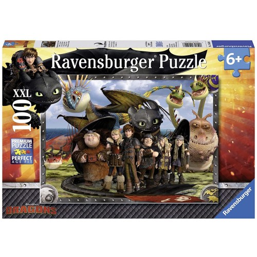 Ravensburger How To Train Your Dragon Toothless Friends Jigsaw Puzzle 100
