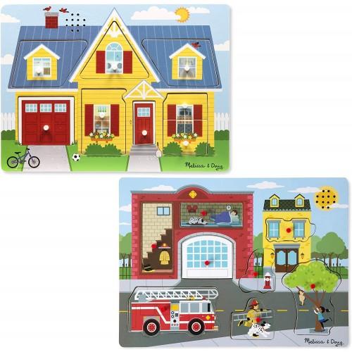 Melissa Doug Sound Puzzle Around The House Fire Station 8