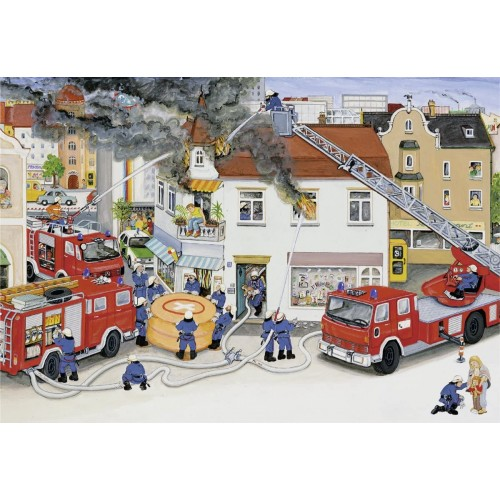 Ravensburger Busy Fire Brigade Jigsaw Puzzle 2 x 24
