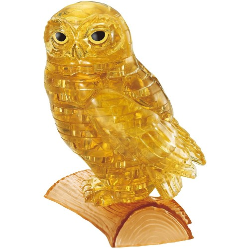 42 Piece Crystal Puzzle Owl Gold 3D