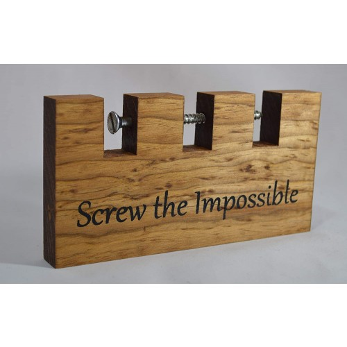 Screw The Impossible Wooden Puzzle 65 x