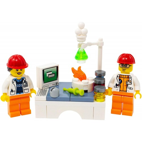 Lego Male And Female Chemists In Lab Custom Chemistry Scientists