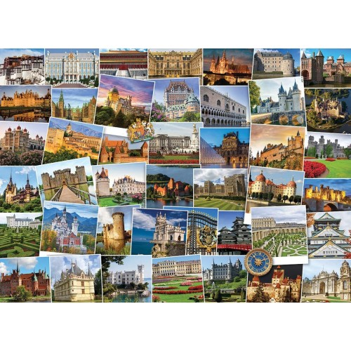 Eurographics Castles And Palaces Globetrotter Jigsaw Puzzle 1000
