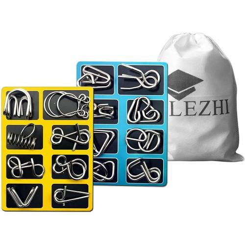 Lezhi Iq Toysab Ab Test Mind Game Brain Teaser Wire Magic Trick Toy Puzzle Set Pack Of 16