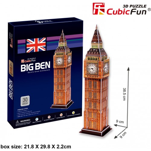 Cubicfun 3D Puzzle Cseries Big Ben