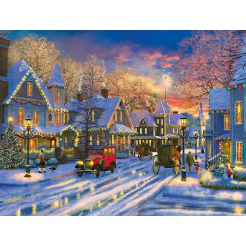 Small Town Holiday 300 Piece Jigsaw Puzzle By