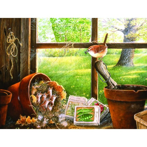 Garden Shed Seedlings 500 Piece Jigsaw Puzzle By