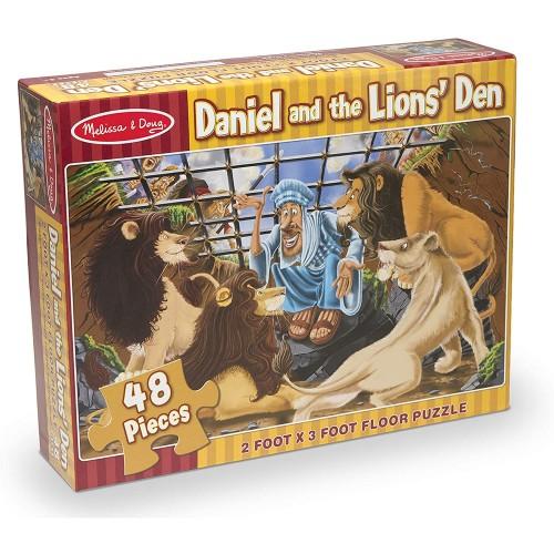 Melissa Doug Daniel And The Lions Den Floor Puzzle Easyclean Surface Promotes Handeye Coordination