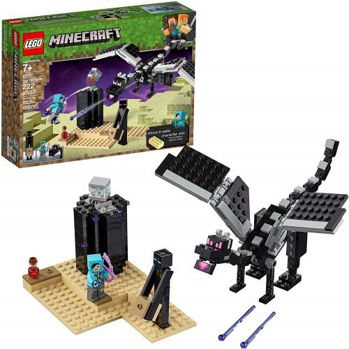 Lego Minecraft The End Battle 21151 Ender Dragon Building Kit Includes Slayer And Enderman