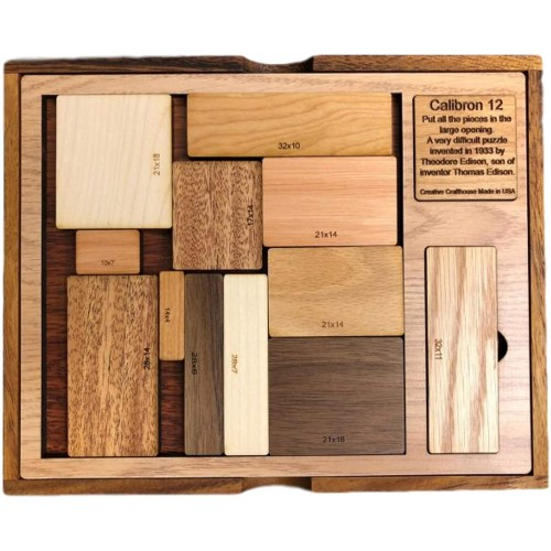 Creative Crafthouse Calibron 12 Brain Teaser Very Difficult Wood Puzzle
