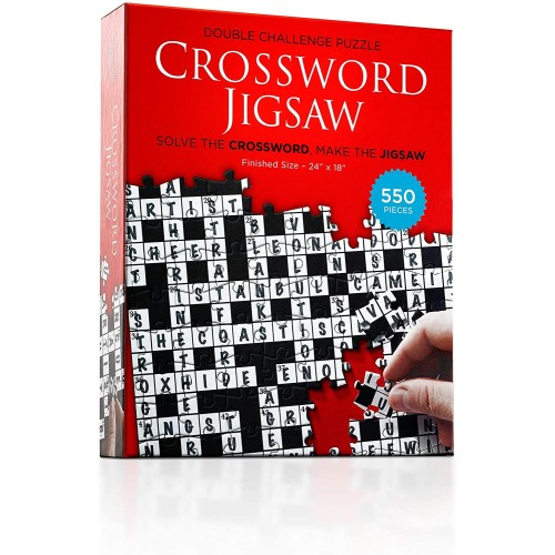 Crossword Jigsaw Puzzle 1St Edition 550 Piece 2In1 Puzzle Game For