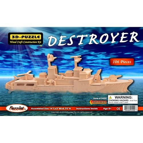 Puzzled Destroyer Wooden 3D Puzzle Construction
