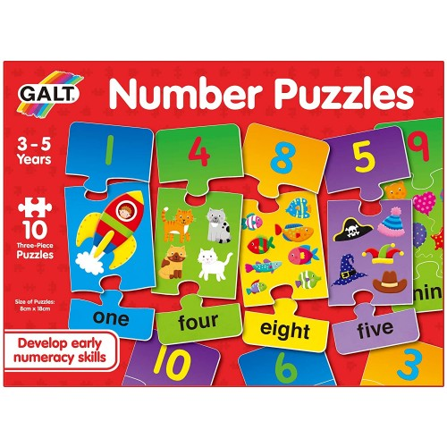 Galt Toys Number Puzzles 3 - Educational Toys Planet