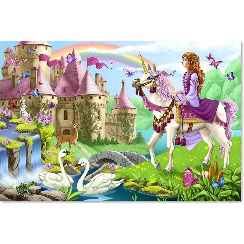 Melissa Doug Fairy Tale Castle Floor Puzzle 48