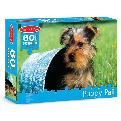Melissa Doug Puppy Pail Jigsaw Puzzle 60