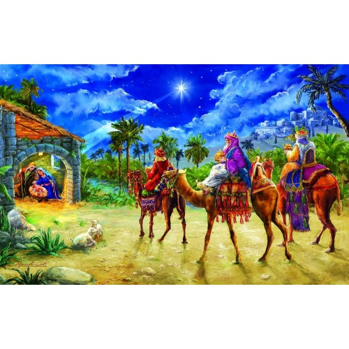 Journey Of The Magi 550 Pc Jigsaw Puzzle By Sunsout Christmas