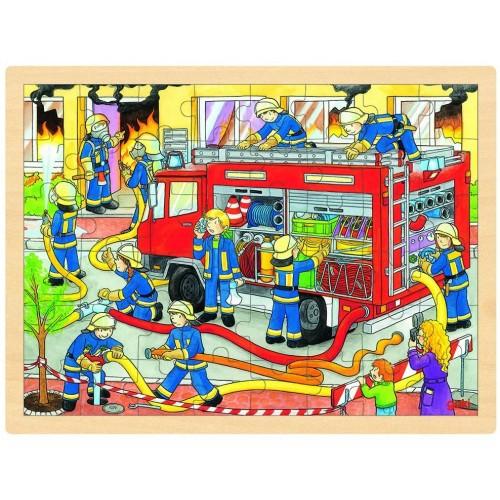 Goki Wooden Firefighting Puzzle 48