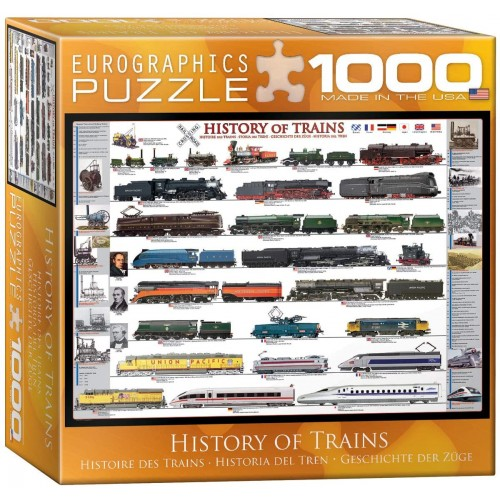 Eurographics History Of Trains Puzzle Small Box