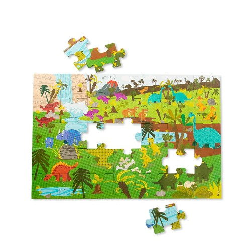 Melissa Doug Natural Play Giant Floor Puzzle Dinosaurs 35 Pieces