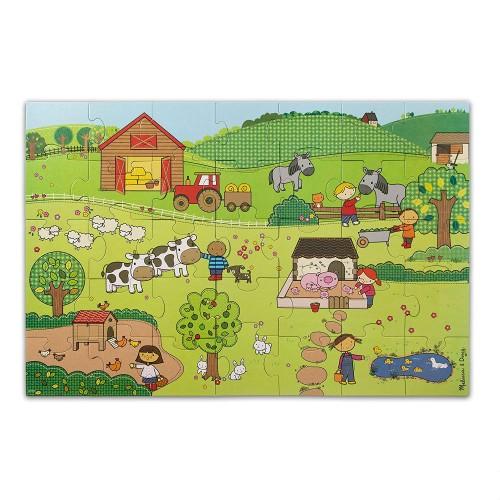 Melissa Doug Natural Play Giant Floor Puzzle On The Farm 35