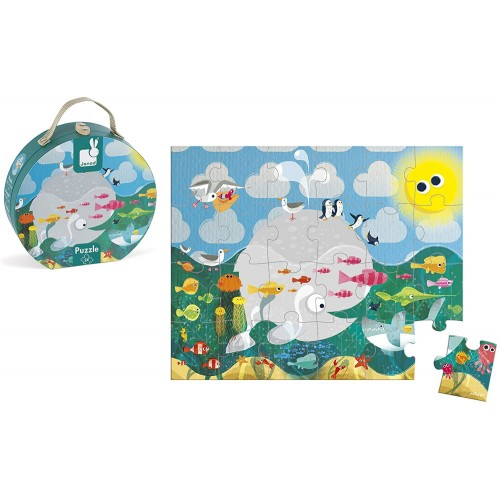 Janod Hat Box Ocean Puzzle 24
