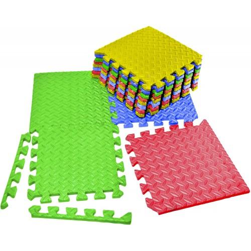 Vvivid Multicolor Interlocking Eva Foam Floor Mat 12 Tile