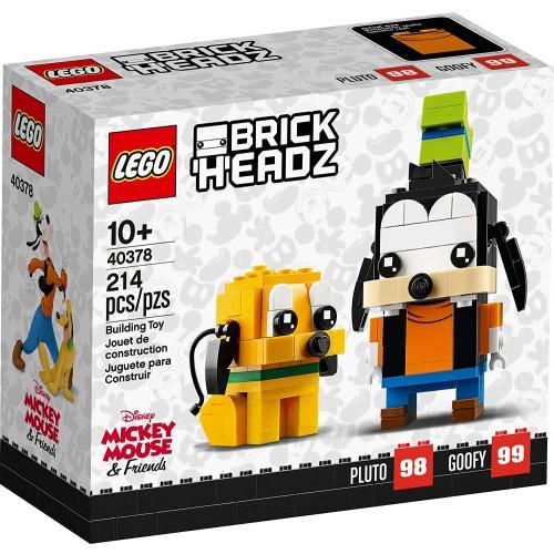 Lego Disney Brick Headz Pluto Goofy Set