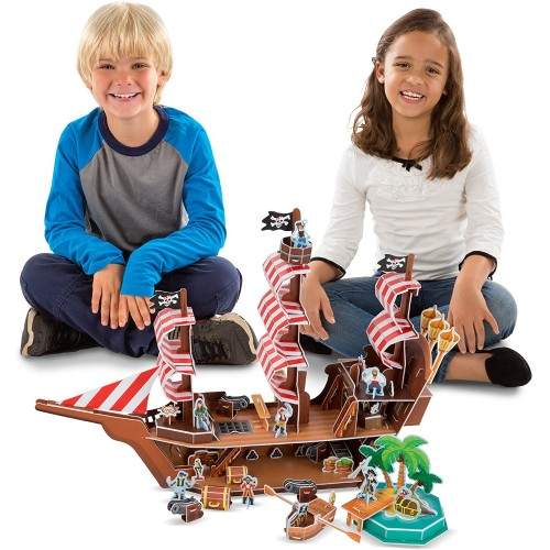 Melissa Doug Pirate Ship 3D Puzzle And In One 100 Pcs 21 x 16 525 Inches