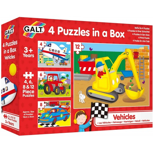 Galt Toys Four Puzzles In A Box