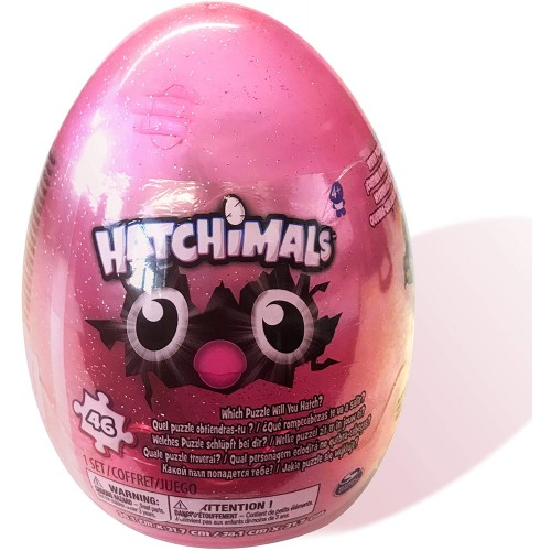 Hatchimals 46Piece Mystery Glitter Puzzle With Storage