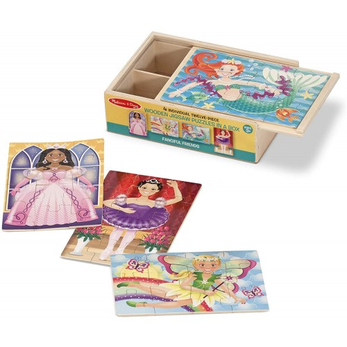 Melissa Doug Jigsaw Puzzles In A Box Fanciful