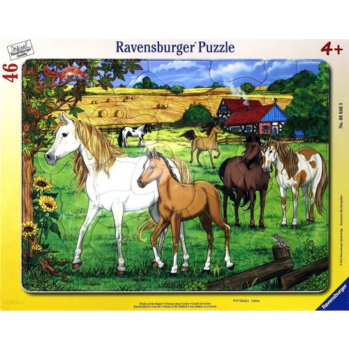 Ravensburger Horses In The Paddock Frame Puzzle