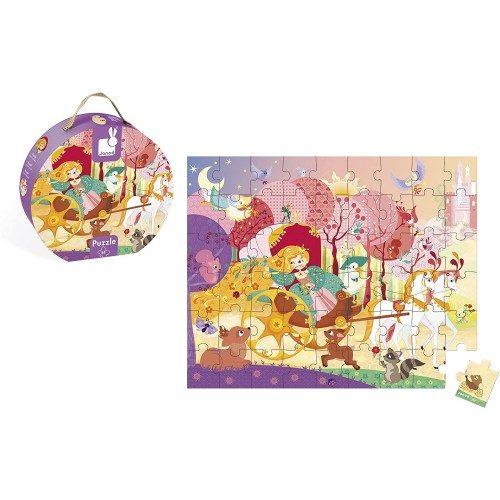 Janod Hat Box Puzzle Princess And The