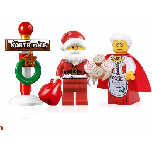 Lego Holiday Creator Minifigure Set Santa With Glasses Mrs Claus And North Pole