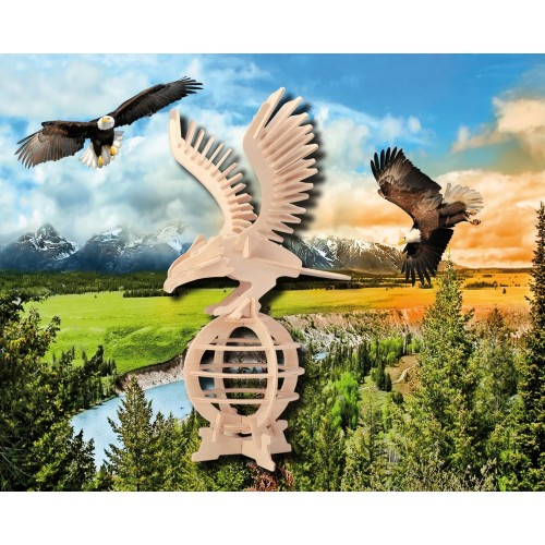 Puzzled 1109 3D Eagle One Size Tan Pack Of