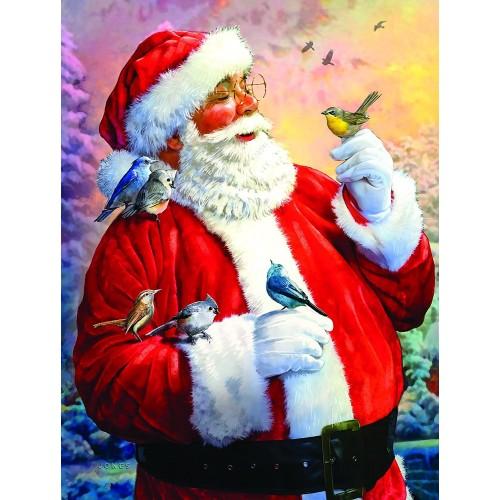 Santas Morning Meeting 300 Pc Jigsaw Puzzle By
