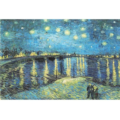 3000 Piece Jigsaw Puzzle Starry Night Over The Rhone By Van Gogh Adult Reduced