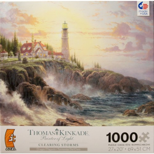 Thomas Kinkade Painter Of Light Clearing Storms 1000 Piece Jigsaw Puzzle Made In