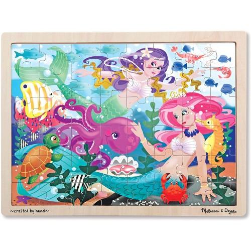 Melissa Doug Mermaid Fantasea Wooden Jigsaw Puzzle